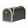 Black Bellevue Mailbox with Platinum Accents