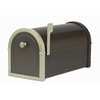 Black Bellevue Mailbox with White Bronze Accents