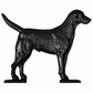 "Whitehall Black ""Black Lab"" Mailbox Ornament"