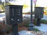 Black Cluster Box Unit with Crown Cap and Pillar Pedestal accessories - 8 compartment