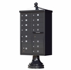 Black Cluster Box Unit with Finial Cap and Traditional Pedestal accessories -13 compartment