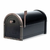 Black Coronado Mailbox with Antique Copper Accents