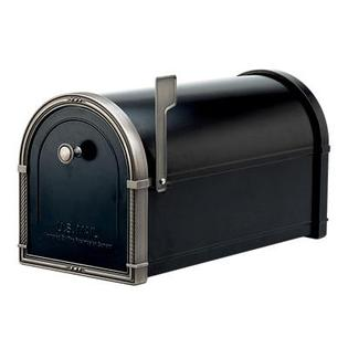 Black Coronado Mailbox with Antique Nickel Accents