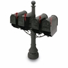 Black Eastport Colonial Steel Mailbox with Post