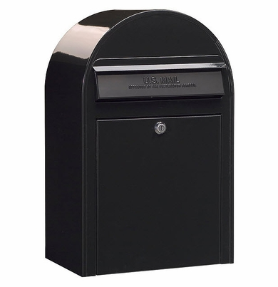 USPS Bobi Classic Black Front Access Lockable Mailbox