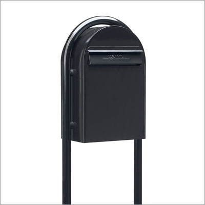 USPS Bobi Classic Black Front Access Mailbox (Post Sold Separately)