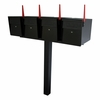 Ultimate High Security Locking Quadruple Mailbox & Post Package - Black