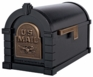 Black with Antique Bronze Accents Mailbox