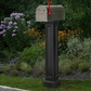 Bradford Mailbox Post in Black