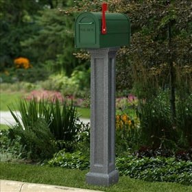 Bradford Mailbox Post in Granite