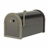 Black Bellevue Mailbox with Bronze Accents