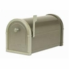 Bronze Bellevue Mailbox with White Bronze Accents