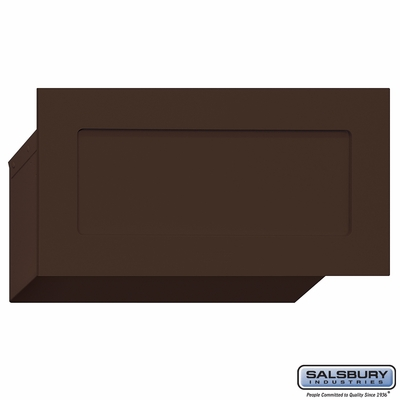 Salsbury 2255BRZ Bronze Mail Letter Drop - Recessed Mounted