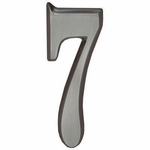 "Whitehall Brushed Nickel 5"" House Address Numbers Number ""7"""