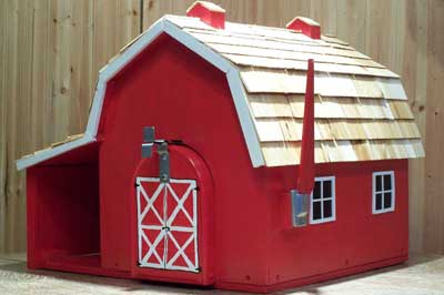 BUILDINGS - Barn Mailbox with Newspaper Holder