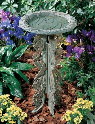 Whitehall Butterfly Birdbath and Pedestal - Oil Rub Bronze