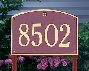 Cape Charles Estate One Line Lawn Address Sign