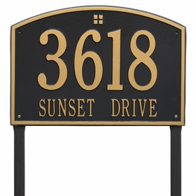 Cape Charles Estate Two Line Lawn Address Sign