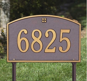 Whitehall Cape Charles Standard One Line Lawn Address Sign