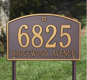 Cape Charles Standard Two Line Lawn Address Sign