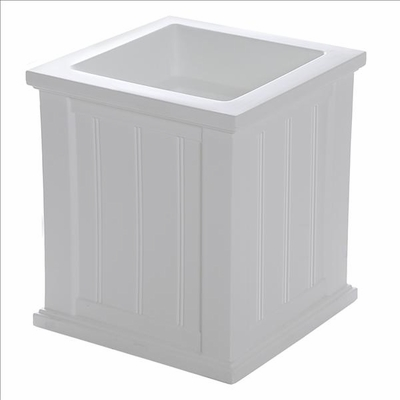 Cape Cod 16 x 16 Patio Planter - White