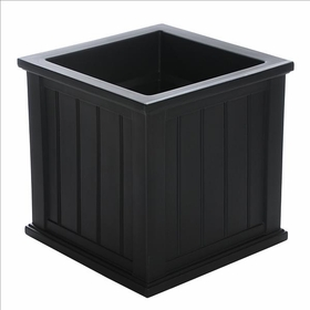 Cape Cod 20 x 20 Patio Planter Black