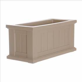 Cape Cod 24 x 11 Patio Planter - Clay