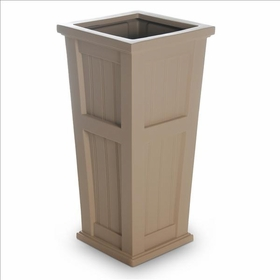 Cape Cod Tall Patio Planter 16 x 32 Clay