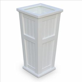 Cape Cod Tall Patio Planter 16 x 32 White