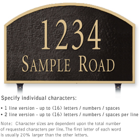 Salsbury 1322BGL Cast Aluminum Address Plaque