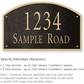 Salsbury 1322BGS Cast Aluminum Address Plaque