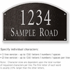 Salsbury 1322BSS Cast Aluminum Address Plaque