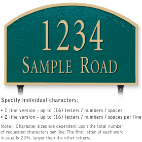 Salsbury 1322GGL Cast Aluminum Address Plaque