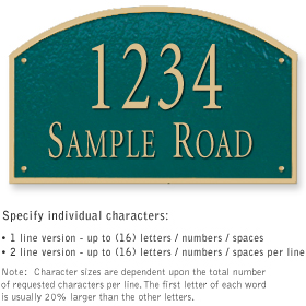 Salsbury 1322GGS Cast Aluminum Address Plaque
