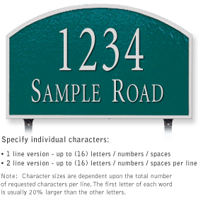 Salsbury 1322GSL Cast Aluminum Address Plaque