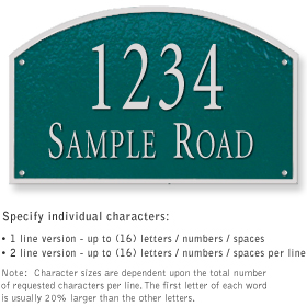 Salsbury 1322GSS Cast Aluminum Address Plaque