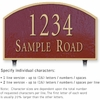 Salsbury 1322MGL Cast Aluminum Address Plaque
