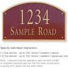 Salsbury 1322MGS Cast Aluminum Address Plaque