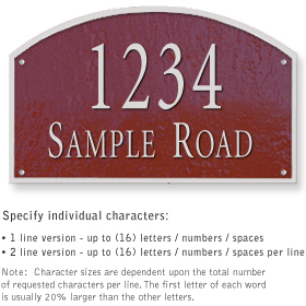 Salsbury 1322MSS Cast Aluminum Address Plaque