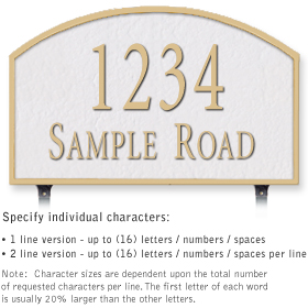 Salsbury 1322WGL Cast Aluminum Address Plaque
