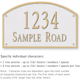 Salsbury 1322WGS Cast Aluminum Address Plaque