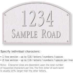 Salsbury 1322WSS Cast Aluminum Address Plaque