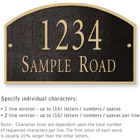 Salsbury 1321BGS Cast Aluminum Address Plaque