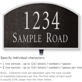 Salsbury 1321BSL Cast Aluminum Address Plaque