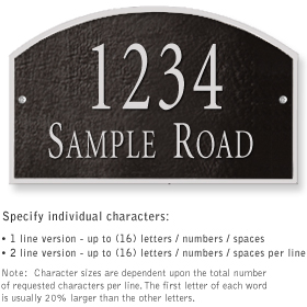 Salsbury 1321BSS Cast Aluminum Address Plaque