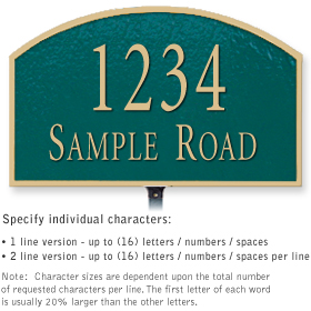 Salsbury 1321GGL Cast Aluminum Address Plaque
