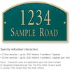 Salsbury 1321GGS Cast Aluminum Address Plaque