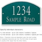 Salsbury 1321GSS Cast Aluminum Address Plaque