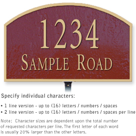Salsbury 1321MGL Cast Aluminum Address Plaque
