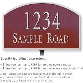 Salsbury 1321MSL Cast Aluminum Address Plaque